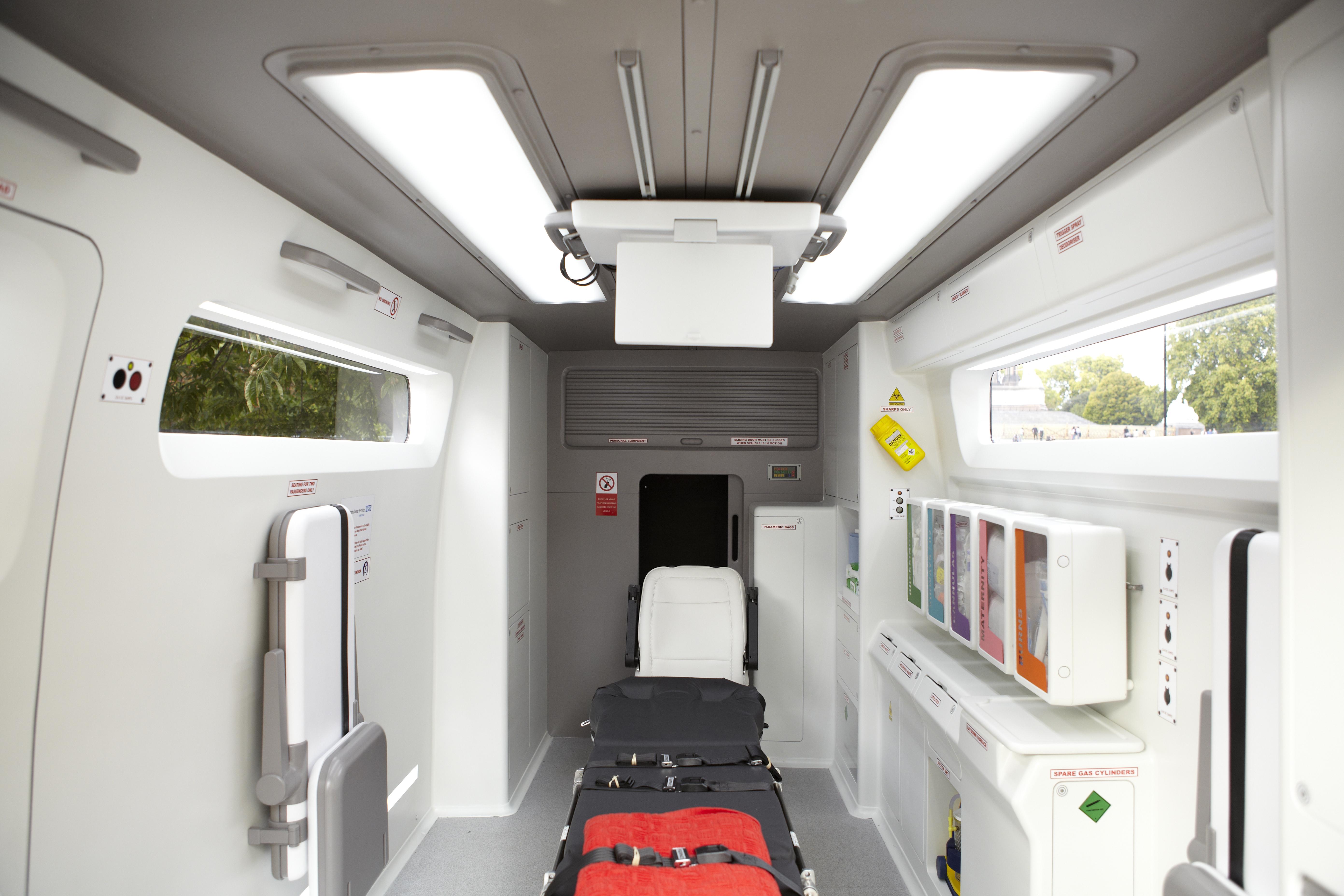 ambulance interior design ambulance treatment space