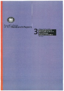 Royal college of art research papers frayling